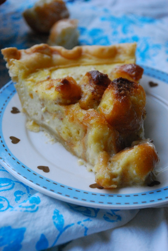 Donut Bread Pudding Pie | Pies, Tarts & Cobblers | Pinterest
