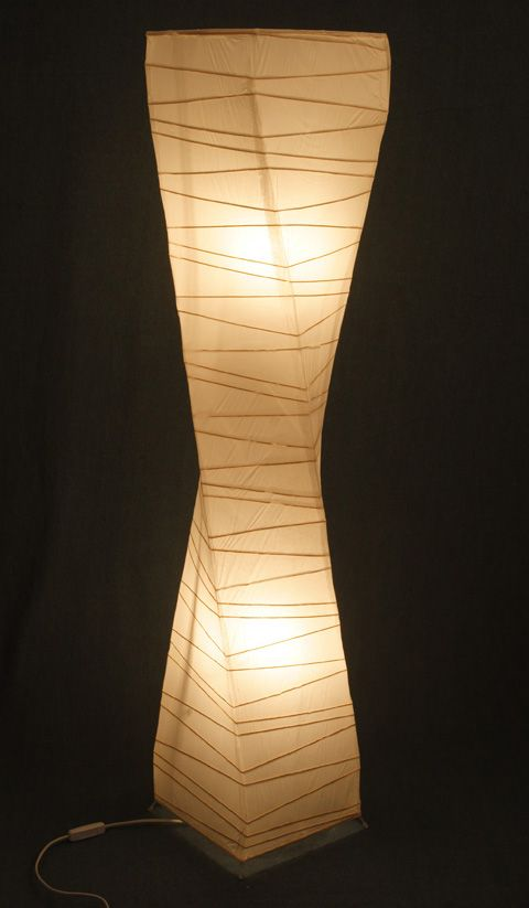 Paper floor lamp all the single ladies pinterest for How to make a beautiful lantern