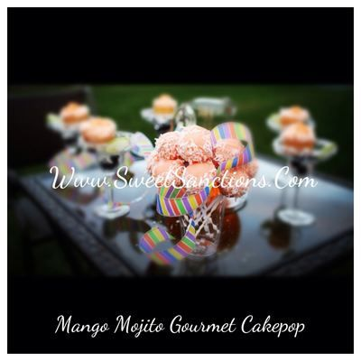 Mango Mojito Gourmet Cakepop : Mango and rum infused cake with a ...