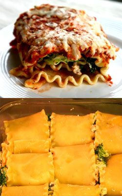 Broccoli Lasagna Spirals | YUM! | Pinterest