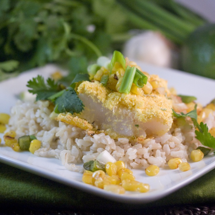 Baked cod with lime and corn salsa | My best photos | Pinterest