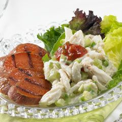 Crab and Grilled Sweet Potato Salad with Jalapeno Cream and Spicy Hot ...