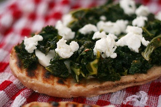 pizza bianca with goat cheese and greens | What's for Dinner? | Pinte ...