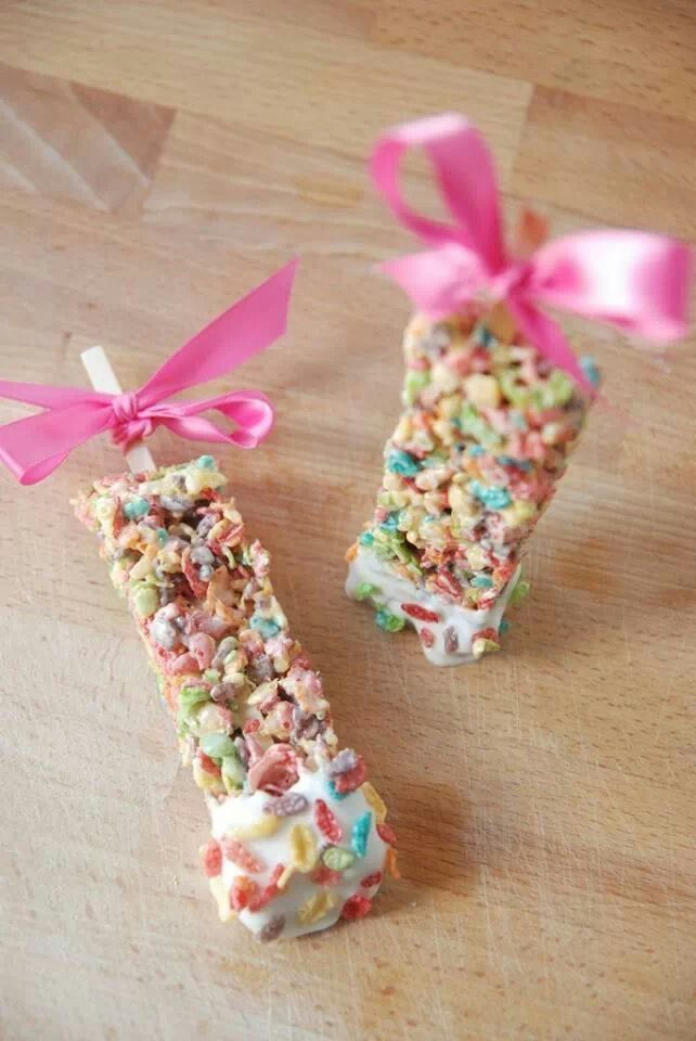Fruity pebbles rice crispys | My Girls JSL | Pinterest