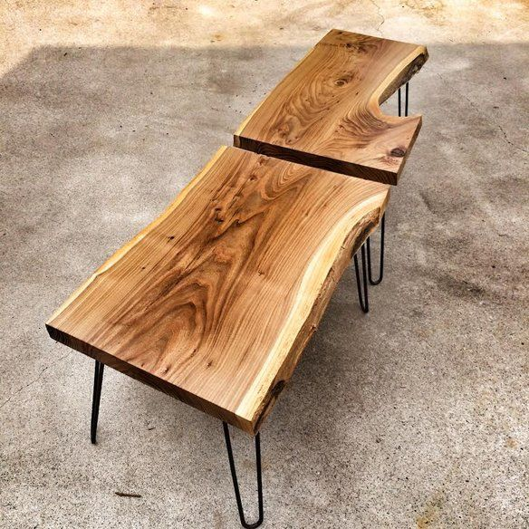 Live Edge American Red Elm Coffee Table