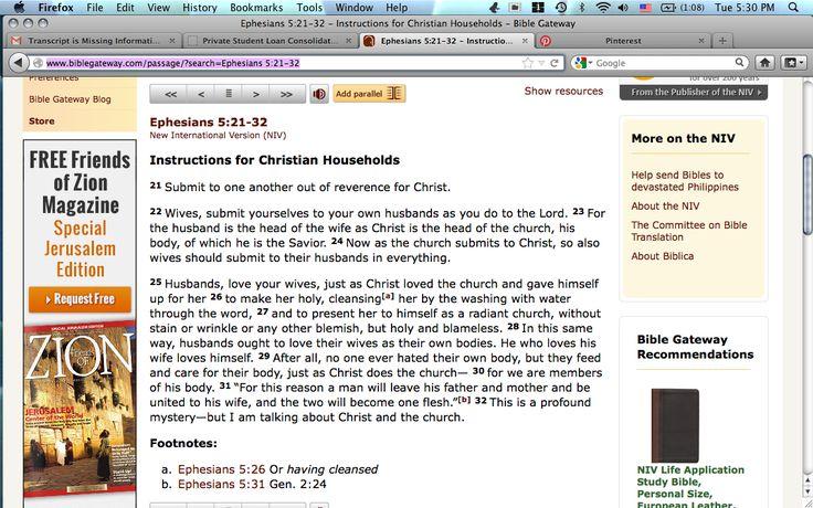 ephesians 5 21 33 explained variance