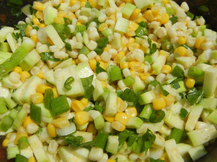 Fresh Corn & Zucchini Salad | Salads | Pinterest