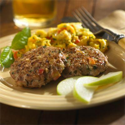 Chicken, Apple and Basil Sausage Patties | Breakfast | Pinterest