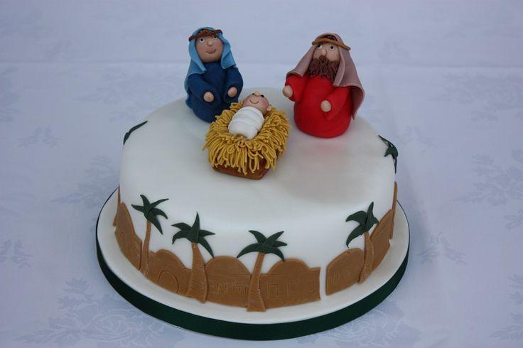 Nativity Christmas Cake Design : Nativity cake Christmas Eve Pinterest