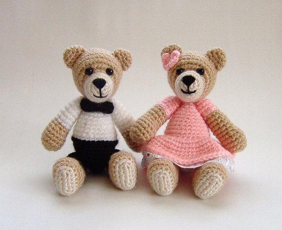 Amigurumi Little Bear : Amigurumi little girl and boy crochet teddy bear by ...