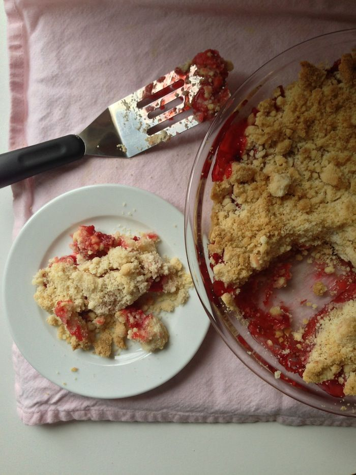 strawberry rhubarb crumble | Favorite Recipes | Pinterest