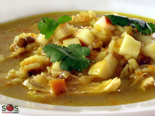 Recette - Soupe Riz, Lentils, Poulet, Oignon, Carotte | SOS Cuisine