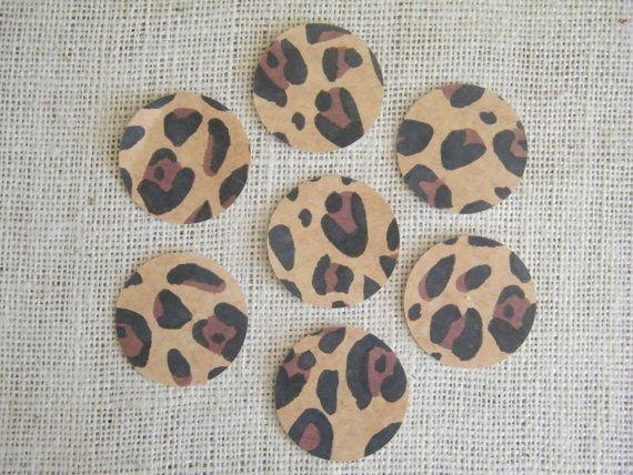 Leopard confetti..DIY