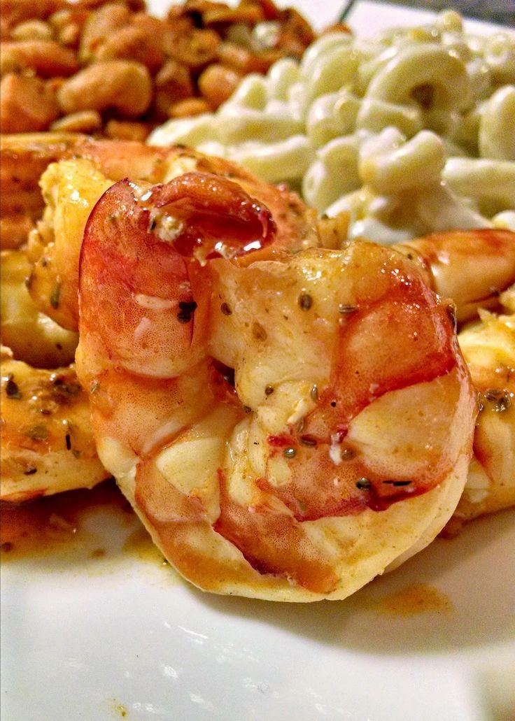 Kitchen Hoor | Roasted Buffalo Shrimp with Blue Cheese Macaroni
