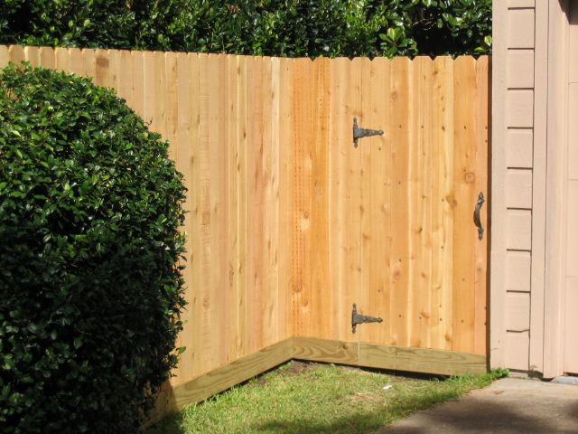 New Backyard Fence : backyards