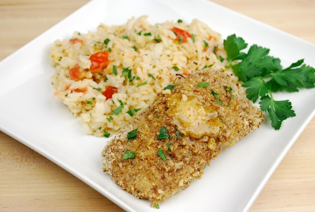 Pecan-crusted Catfish with Cajun-spiced Pecan Compound Butter