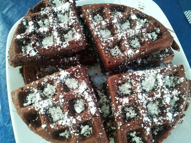 Brownies using your waffle maker. Use any brownie recipe you want or ...