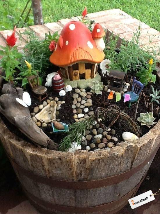 Cute Diy Fairy Garden Garden Ideas Pinterest
