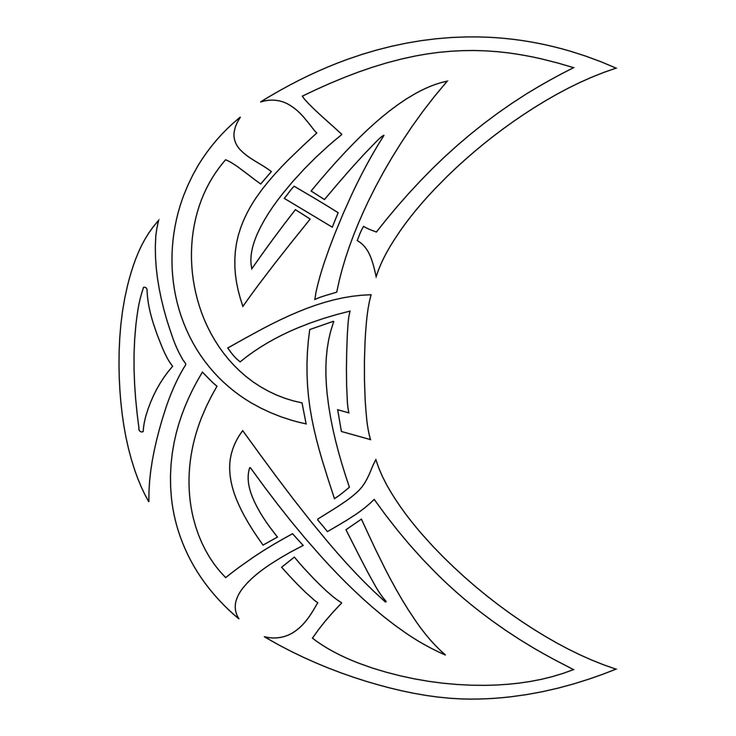 Celtic moon tattoo   Pattern - knots and symbols   Pinterest