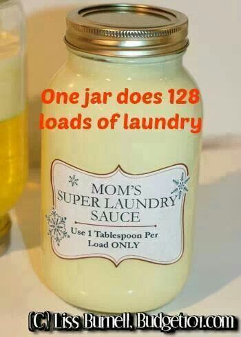 Moms super laundry sauce | Cleaning | Pinterest