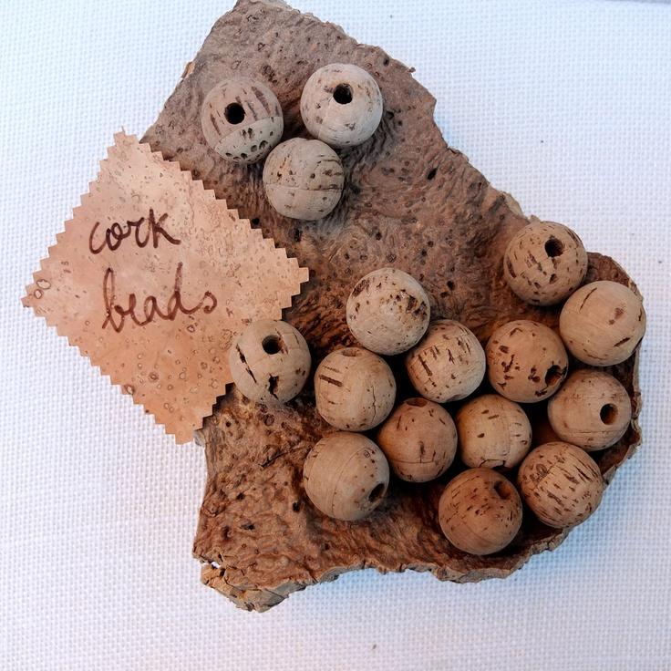 Cork Beads: 25mm Natural Round Cork Beads, Create Organic Jewelry For