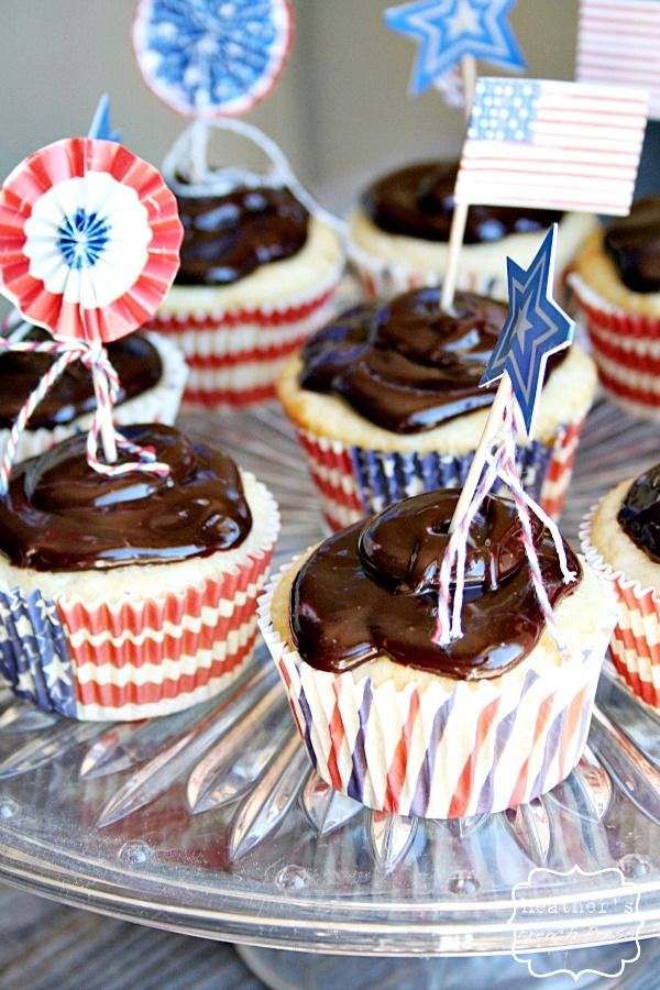 Boston Cream Pie Cupcakes ~ adapted from Martha Stweart | Recipe