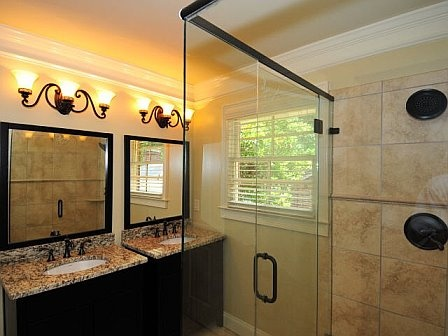 Small Elegant Master Bathroom Inspiration for the home