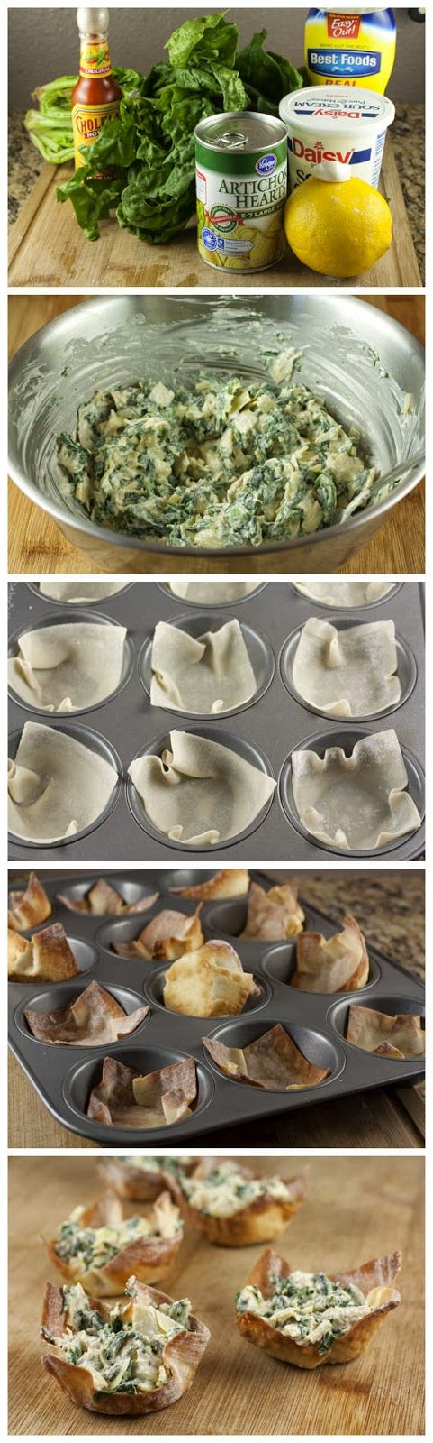 Spinach Artichoke Cups | Recipes to Try | Pinterest