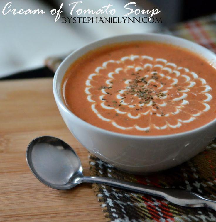 Homemade Cream of Tomato Soup Recipe - bystephanielynn