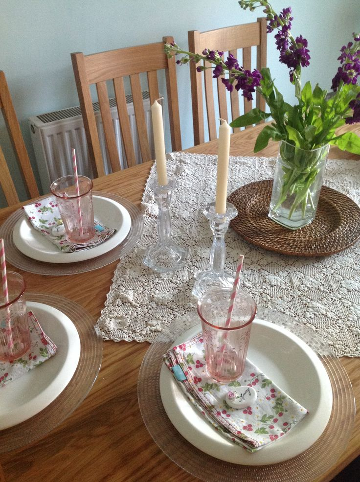 Table Setting For Lunch : Pretty table set for lunch  My stuff  Pinterest
