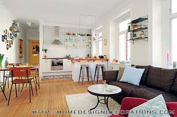 Apartment Organization Custom Of Open Floor Plan Kitchen Living Room Design Photos