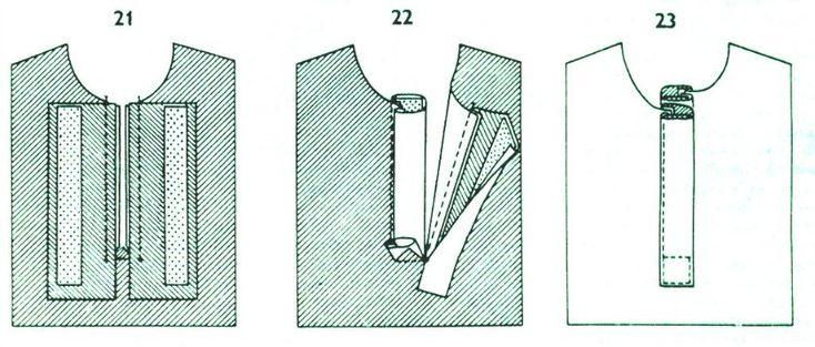 Сшить блузки с планкой