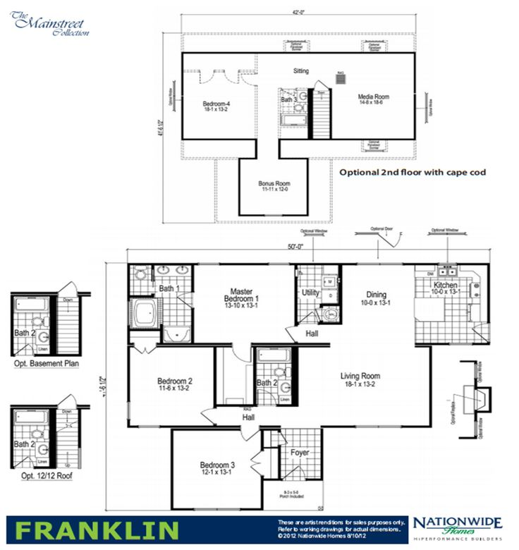 The Franklin Modular Home Floor Plan The Franklin