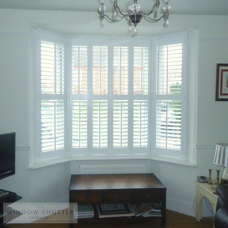 Bay Window Shutters And Chandelier Bay Window Shutters