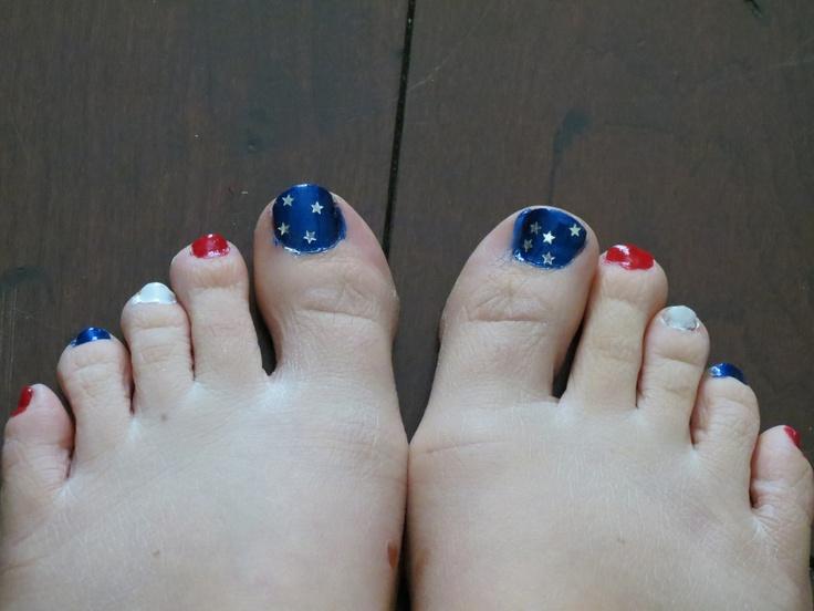 fourth of july toenail art