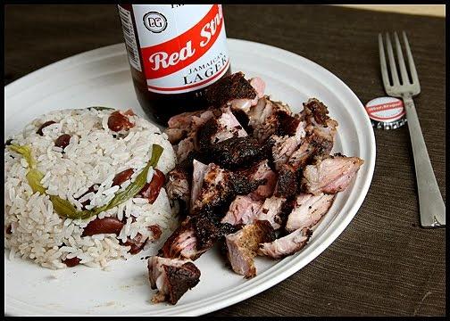 Pork Drunk: Jamaican Jerk Rib Tips with Rice and Peas