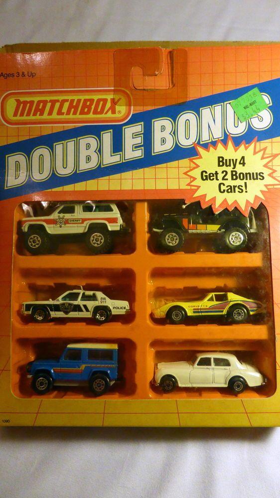 1987 matchbox double bonus set of cars mint in box for 2 box auto con stanza bonus