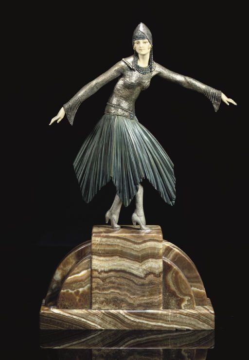 DEMETRE CHIPARUS | ETOILE DANSEUSE SCULPTURE, CIRCA 1925