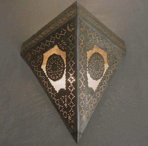 Wall Sconces Moroccan : Moroccan Wall Sconce Lamp -silver