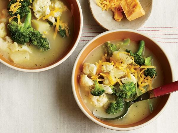 Simple Winter Soups: Broccoli and Cauliflower Cheddar Soup http ...