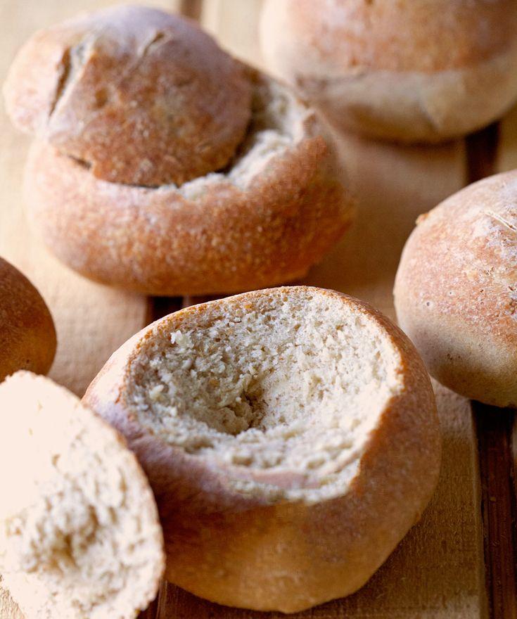 Crusty Artisan Bread Bowls | Tasty - Savory | Pinterest