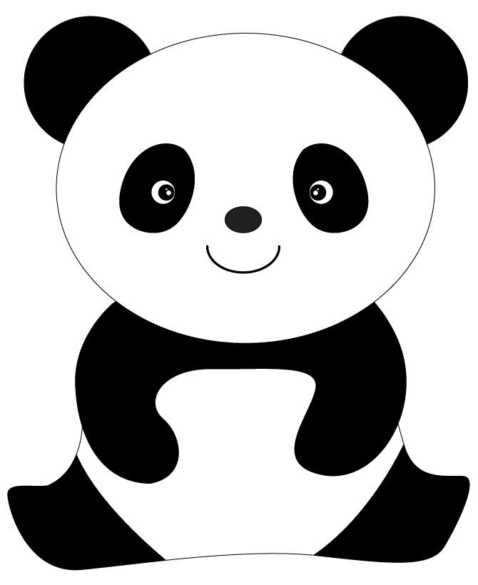 Cute Animal Panda Coloring Pages