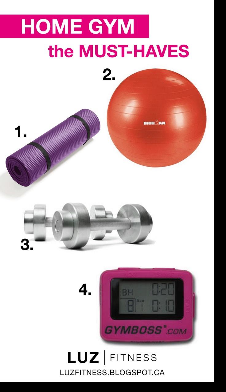 Home gym essentials fitness pinterest