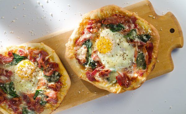 Applewood Smoked Bacon and Egg Breakfast Pizza in Recipes on The Food ...