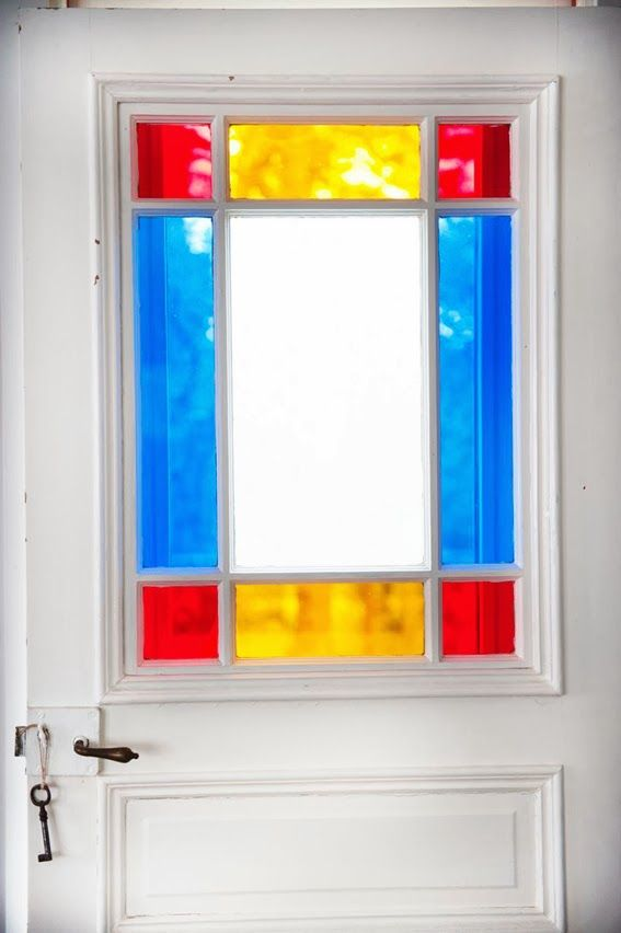 Interior door coloured glass panels new house ideas for Interior glass panel doors designs