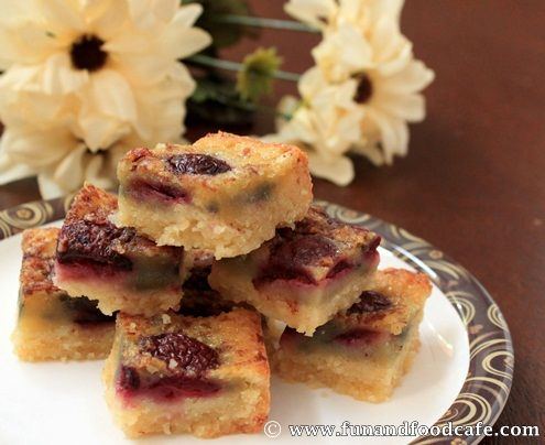Chocolate-Cherry-Blondies. I think this may be my contribution to book ...