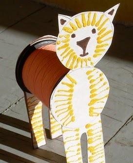 León rollo de papel