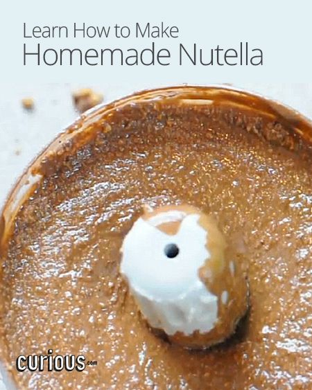 How To Make Homemade Nutella | healthy food | Pinterest