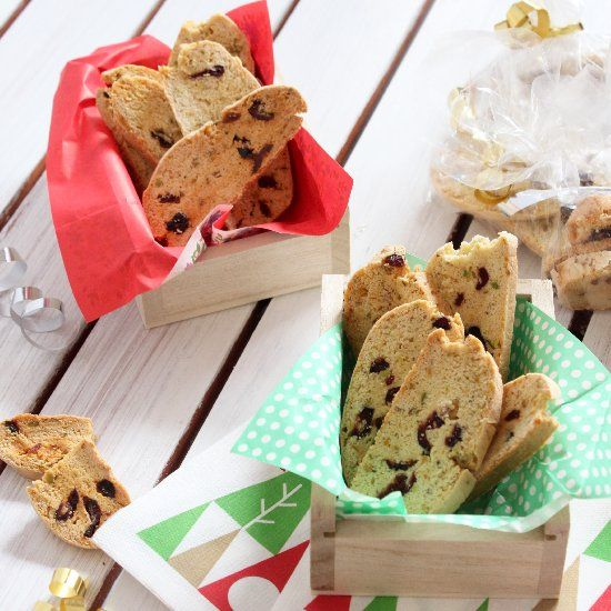 Cranberries, Honey & Pistachio Biscotti. Best for festival party ...