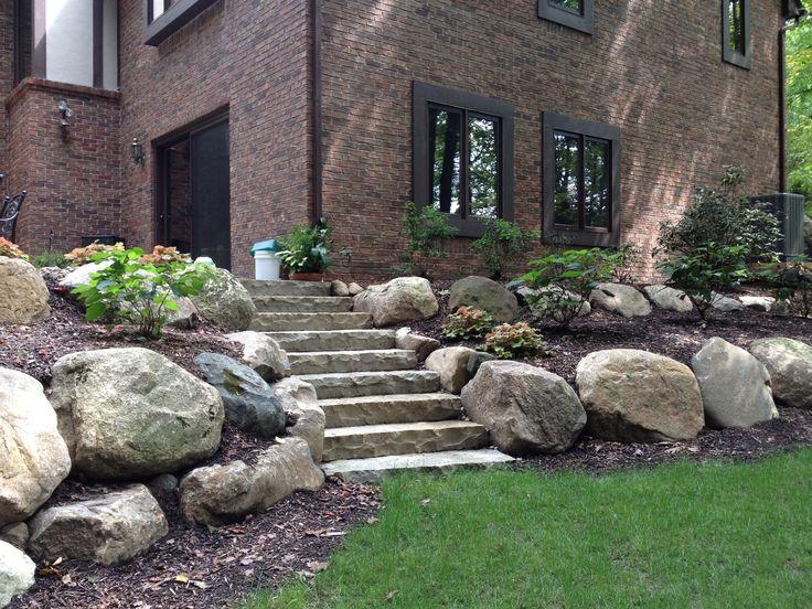 Pin by melissa crosby on rock wall garden pinterest for Limestone landscape rock